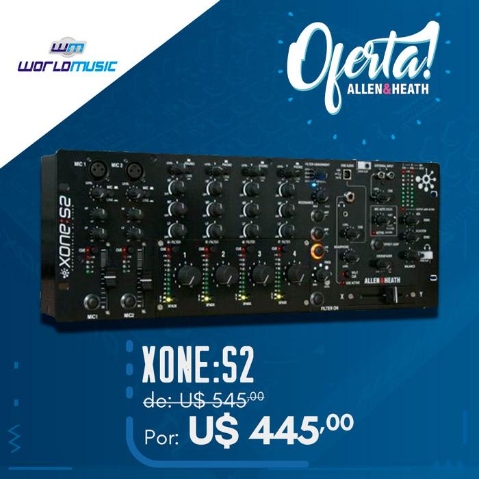 Xone S2 da Allen & Heath por U$ 445,00 mixer promoca oferta