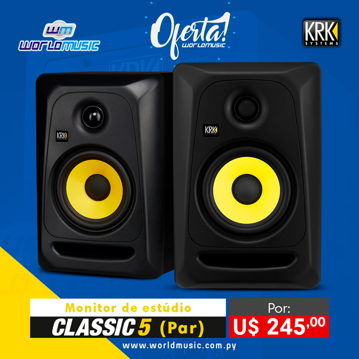 krk classic 5 systems oferta promo site world music promocao systems krk systems world music loja paraguai