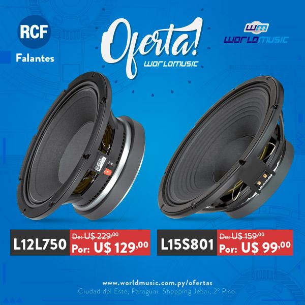 rcf falantes L12L750 L15S801 oferta oferta paraguai